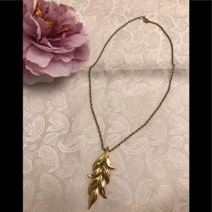 Monet gold leaf pendant necklace
